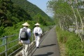 The pilgrimage route forms a circle around the circumference of the island of Shikoku.