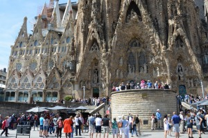 La Sagrada Familia, designed by architect Antonio Gaudi, in Barcelona.