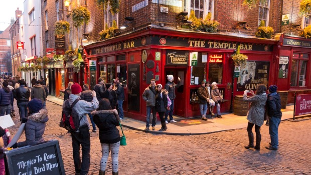 Dublin's cultural quarter offers a lively nightlife.