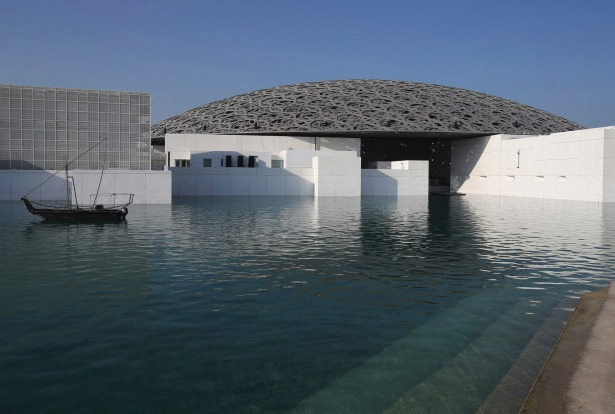 The Louvre Abu Dhabi in Abu Dhabi, United Arab Emirates.