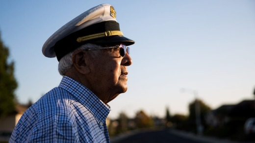 "Frank Garcia, 91, the flight engineer on Pan Am Flight 6. ""I felt as if somebody had grabbed the seat of my pants and ..."