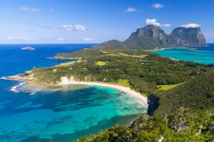 View south over Lord Howe Island from Malabar.