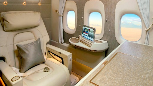 Emirates New First Class Suites For Its Boeing 777s.