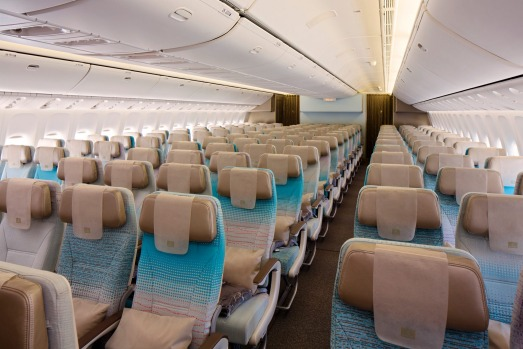 Economy class on board the 777.
