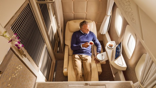 No need for kids in here: Emirates' new 777 first class suites.