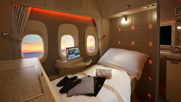 Emirates' first class suites on the Boeing 777.