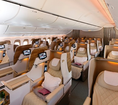 Business class on board the 777.
