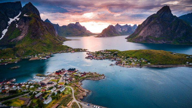 Lofoten islands is an archipelago in the county of Nordland, Norway.