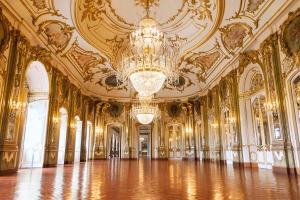 The ballroom of Queluz National Palace.