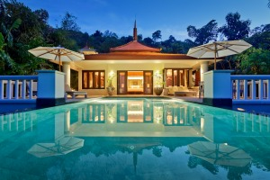 A pool villa offers luxury and privacy.
