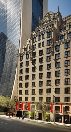 The hotel is just five minutes' walk from Central Park.
