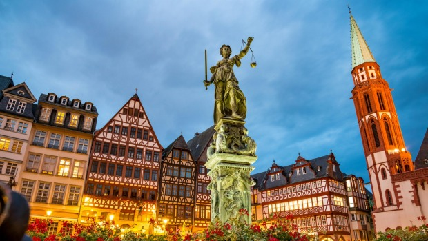 Berlin alternative: Romerberg Square in Frankfurt's Old Town.