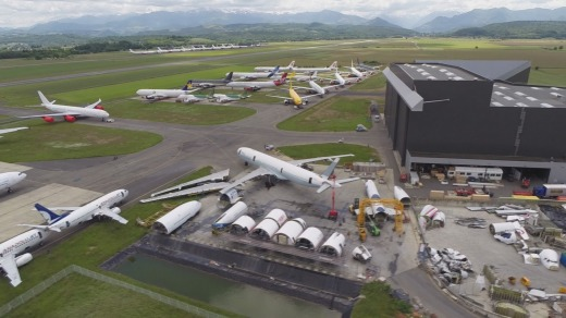 Tarmac Aerosave, Europe's biggest aircraft storage company, says it can accommodate 25 A380s.