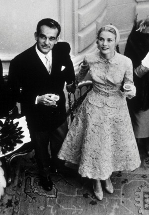 Rainier III, Prince of Monaco, with his wife Grace Kelly.