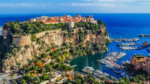 Monaco on the French Riviera.