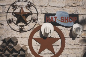 Hat shop in the Hill Country town of Fredericksburg.