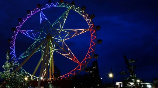 The wheel was better to look at than to look out from.