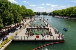 LA BAIGNADE, CANAL DE L'OURCQ, PARIS: Naughty swimmers have been breaking the rules and taking a dip here for years but ...
