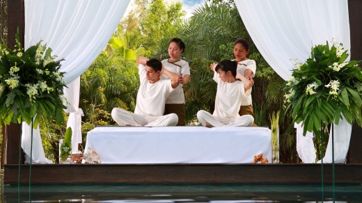 Treatment at the Pathways Spa.