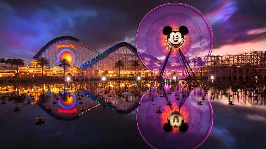 Paradise Pier, in Disney California Adventure park, harks back to California's nostalgic seaside amusement parks.