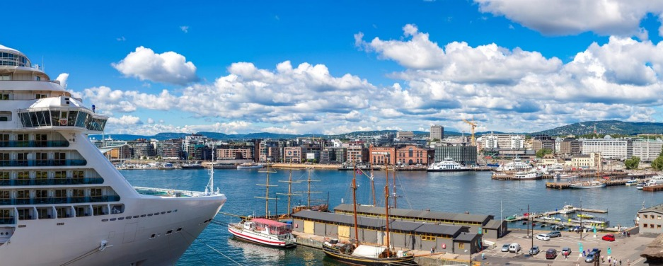 Oslo harbour. Norway is one of the world's most expensive countries to visit.
