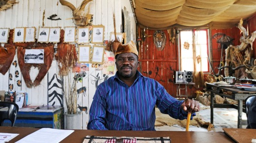 A restaurant owner in Mondesa, Swakopmund.