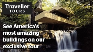 Traveller Tours USA architecture tour promo image.