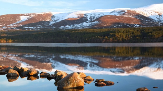 Loch Morlich Cairngorms National Park.