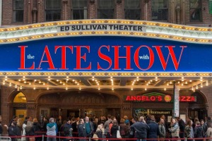 The Late Show with Stephen Colbert at the Ed Sullivan Theatre, New York.