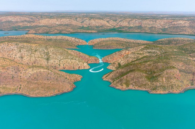 The Kimberley was once separated from the rest of Australia, and Cyclone Creek is pretty much along the line where the ...