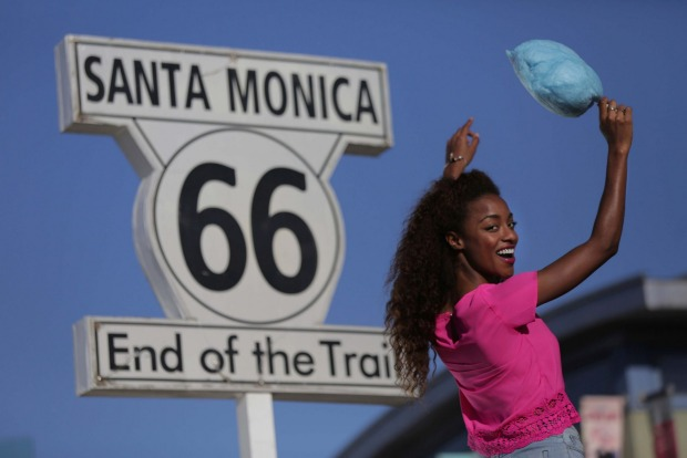 END OF ROUTE 66: While most people know that Route 66 begins in Chicago, few realise it ends on the Santa Monica Pier, ...