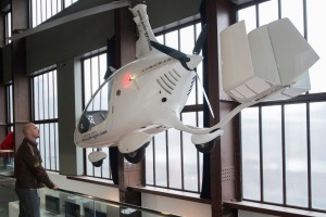 Gyrocopter on display at Red Dot Design Museum.