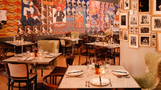 In-house restaurant Asia de Cuba is a colourful mishmash.
