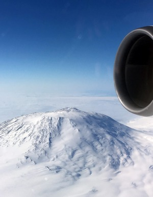 Mount Erebus, an active volcano in Antarctica, is a highlights of the journey.