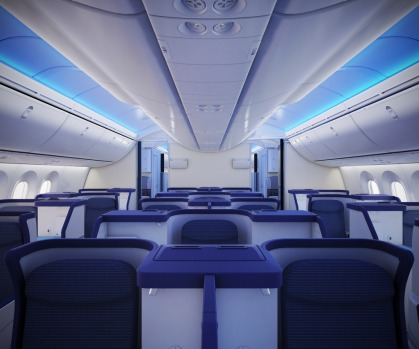 No.2 - All Nippon Airways (ANA). The airline's business class on board its Boeing 787 Dreamliner.