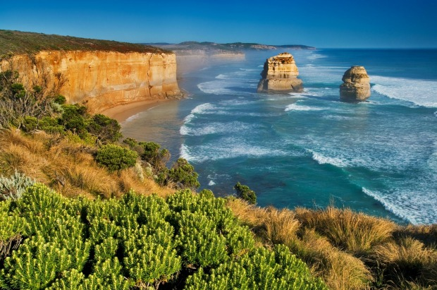 Two of the Twelve Apostles at Victoria's Great Ocean Road.