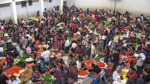 The busy produce market in draws buyers and sellers within the local area each Thursday and Sunday.