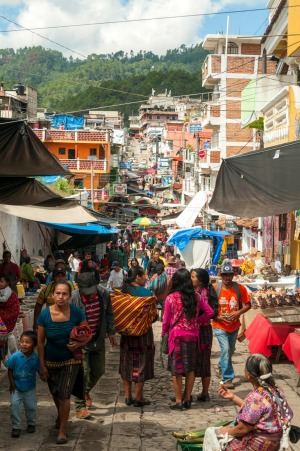 The market at  Chichicastenango offers an immersive insight into Guatemala's indigenous culture.