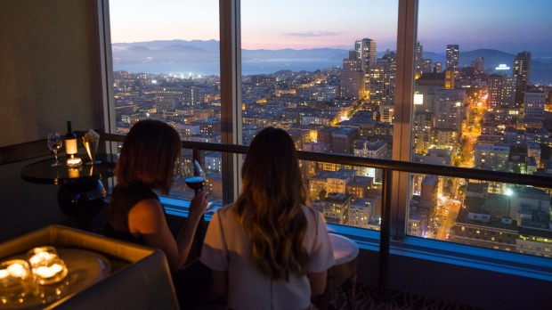 CityScape, Hilton Union Square's top floor bar, with 360-degree views of San Francisco.