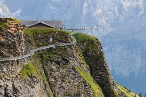 A cliff walk overlooking the Grindelwald Valley.