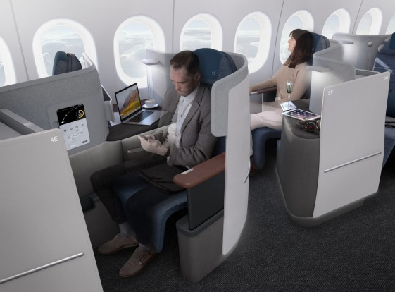 No.5 - Lufthansa. Pictured: Business class on the Boeing 777.