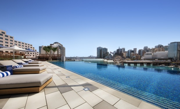 The Sofitel Sydney Darling Harbour's infinity pool.