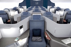 Lufthansa's new business class seats for the Boeing 777.