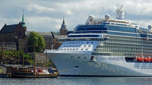 Celebrity Silhouette gets passengers close to the action in Oslo.