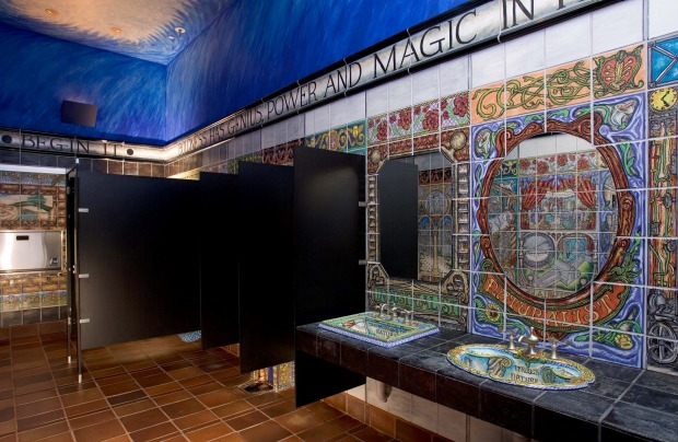 John Michael Kohler Arts Center: New York artist Matt Nolen created a ceiling to floor tile mural for the largest of the ...