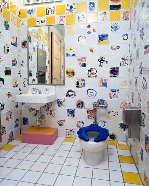 John Michael Kohler Arts Center: The washroom in the Children's Studio was created by and for the children in JMKAC's ...
