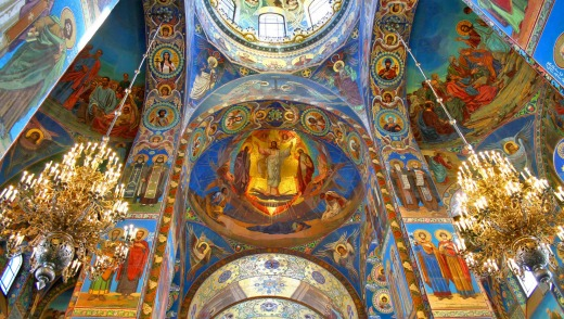 Inside the Church of the Savior on Spilled Blood.