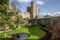 The garden of Windsor Castle, UK, the oldest and largest occupied castle in the world.