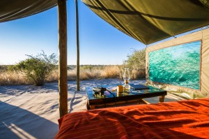 A tented camp at Meno a kwena.
