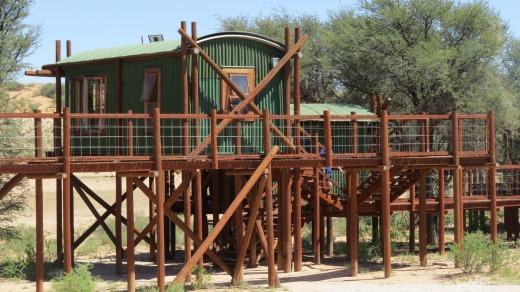 Urikaruus Camp has five chalets linked by a boardwalk.